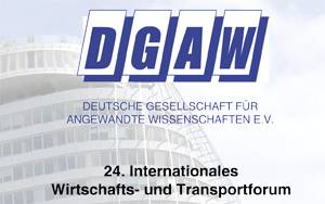 Folder DGAW 24. Internationales Wirtschafts- und Transportforum